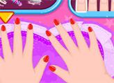 Игра Малышка Барби: Блестящие ногти
