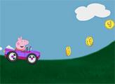 Игра Свинка Пеппа - гонки на автомобилях