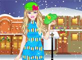Игра Зимний шоппинг с Барби
