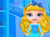 Игра Малышка Барби: Костюмы в стиле Холодного сердца