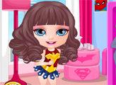 Игра Малышка Барби: Костюм супер героя