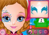 Игра Малышка Барби: Зимний фейс-арт