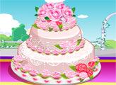 Игра Свадебный торт с розами 3