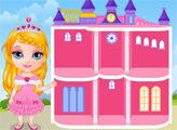 Игра Малышка Барби: Кукольный домик принцессы