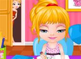 Игра Малышка Барби делает домашнее задание