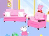 Игра Пеппа украшает комнату