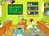 Игра Уборка в лаборатории