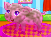 Игра Забота о свинке