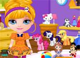Игра Малышка Барби и Шоппинг в Хэллоуин