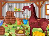 Игра Уборка на лошадиной ферме 2
