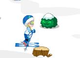 Игра Малышка Эльза катается на лыжах