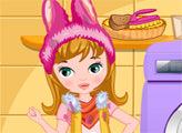 Игра Девушка-пасхальный кролик в прачечной