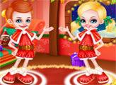 Игра Барби и Кен - Рождественские малыши