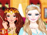 Игра Снежная принцесса против огненной