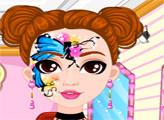 Игра Рисунок на лице модной куклы