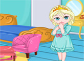Игра Украшение комнаты малышки Эльзы