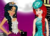 Игра Жасмин и Ариэль - модная битва