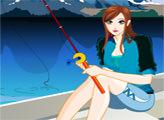 Игра Девушка на рыбалке