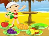 Игра Фрукты на пляже