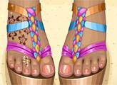 Игра Горячие пляжные сандалии