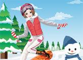 Игра Веселая сноубордистка