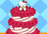 Игра Украшаем фруктовый торт Хелло Китти