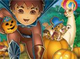 Игра Диего и Хэллоуин - плиточный пазл