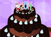 Игра Хелло Китти: Новогодний торт