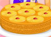 Игра Готовим с Эльзой: Ананасовый пирог