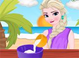 Игра Готовим с Эльзой: Кокосовые кексы с глазурью
