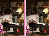 Игра Маша и Медведь: 6 отличий