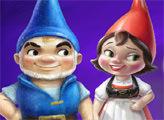 Игра Онлайн раскраска: Гномео и Джульетта