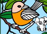 Игра Онлайн раскраска: Красивые птицы