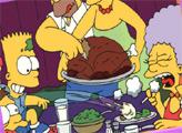Игра Симпсоны в День Благодарения - плиточный пазл