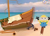 Игра Миньоны: Ремонт корабля