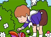Игра Онлайн раскраска: Пасхальные яйца