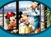 Игра Микки Маус и Гуфи - веселый пазл