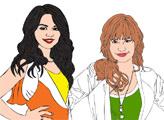 Игра Онлайн раскраска: Деми и Селена