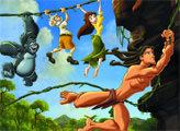 Игра Тарзан - плиточный пазл