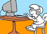 Игра Онлайн раскраска: Компьютерщик