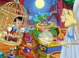 Игра Пиноккио и фея - плиточный пазл