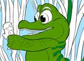 Игра Онлайн раскраска: Крокодил Тик-Ток