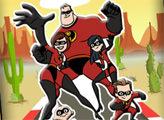Игра Онлайн раскраска: Суперсемейка