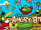 Игра Онлайн раскраска: Злые птички играют