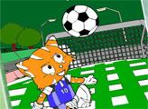 Игра Онлайн раскраска: ФИФА кошка