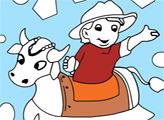 Игра Онлайн раскраска: Корова