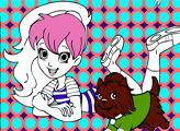 Игра Онлайн раскраска: ПоллиПокет