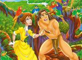 Игра Любовь Тарзана - плиточный пазл