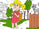Игра Онлайн раскраска: Возвращение в школу