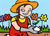Игра Онлайн раскраска: Садоводство